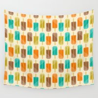 popsicle Wall Tapestries featuring Popsicle by Liz Urso