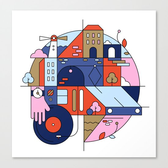 City Tram Canvas Print