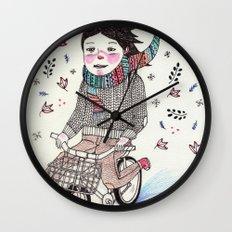 Winter Warrior Wall Clock
