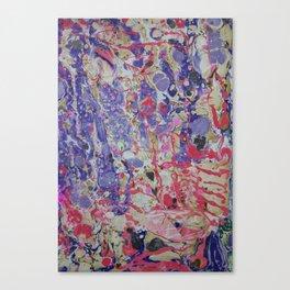 Flame On marbleized print Canvas Print