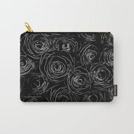 Black White Abstract Carry-All Pouch