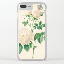 Rose Flower Color Pencil Hand Drawing Clear iPhone Case