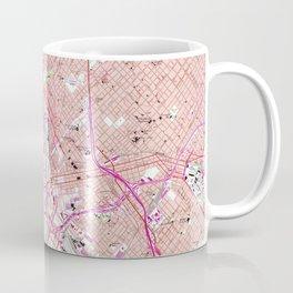 Vintage Map of Dallas Texas (1958) Coffee Mug