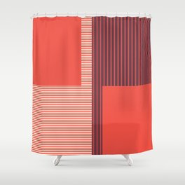 Figaro in Red Shower Curtain