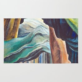 Emily Carr Forest British Columbia Painting Rug