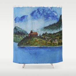 The House of the Ancestors Shower Curtain
