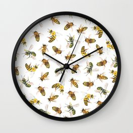 Honey to the Bee Wall Clock