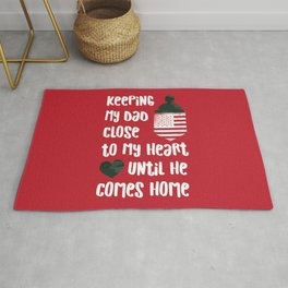 Red Friday Keeping My Dad Close to Heart Rug