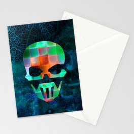 CHECKED DESIGN II - SKULL Stationery Cards