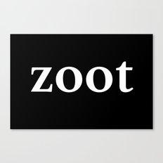 Zoot - inverse edition Canvas Print