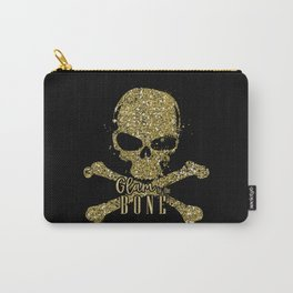 Black Glam to the Bone Skull Carry-All Pouch