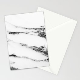 White Black Marble Stationery Cards
