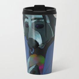 Raccoon self-portrait Travel Mug