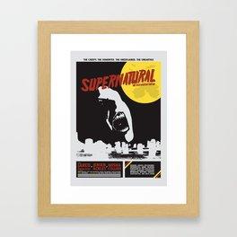 Old Hollywood Supernatural Framed Art Print