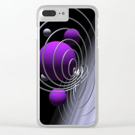 pink or violet -7- Clear iPhone Case