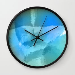 Blue Beach Abstract Watercolor Wall Clock