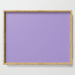 Light Chalky Pastel Purple Solid Color Serving Tray