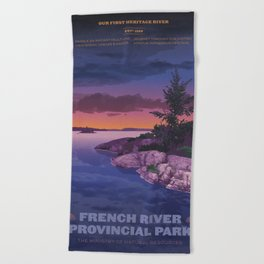 French River Provincial Park Beach Towel
