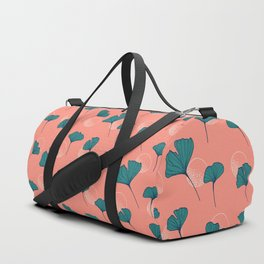 Bright Ginkgo & Dots #society6 #decor #buyart Duffle Bag