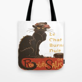 Le Chat  Burns Nuit With Haggis and Dram Tote Bag