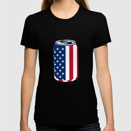 American Beer Can Flag T-shirt