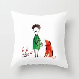 Sunday walk Throw Pillow