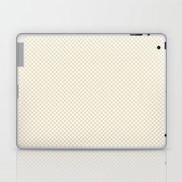 Houndstooth White & Cream small Laptop & iPad Skin