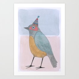 Sweet Party Bird Art Print