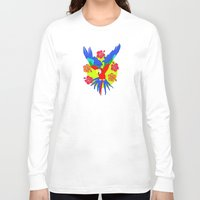 parrot Long Sleeve T-shirts featuring Parrot by lescapricesdefilles