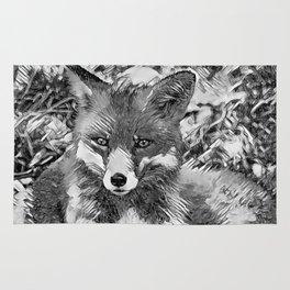 AnimalArtBW_Fox_20170901_by_JAMColorsSpecial Rug