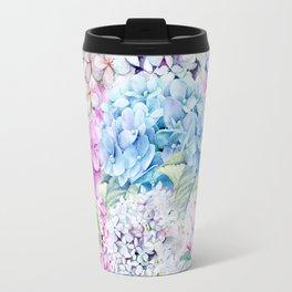 Multicolor Watercolor Hydrangea dream pattern Travel Mug