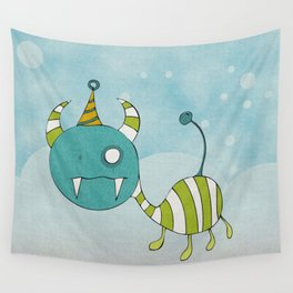 Party-Animal in Bubbles II Wall Tapestry