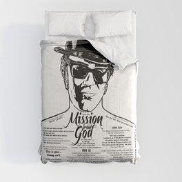 Elwood Blues Brothers tattooed 'Dry White Toast' Comforters