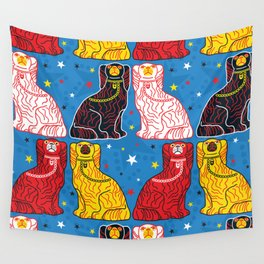 staffordshire dogs Wall Tapestry