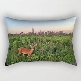 The NYC Deer Rectangular Pillow