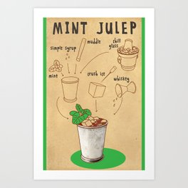 HOW TO: MINT JULEP Art Print