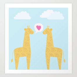 Spotty Giraffe Art Print