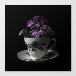 Botanical Tea Cup Canvas Print