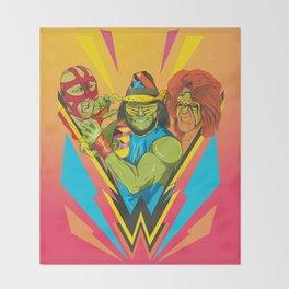 Classic Wrestling Throw Blanket