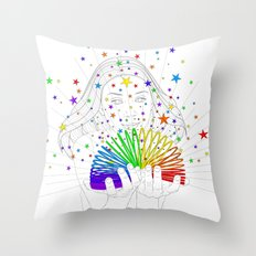 Rainbow Spring - Colors Decompressed Throw Pillow