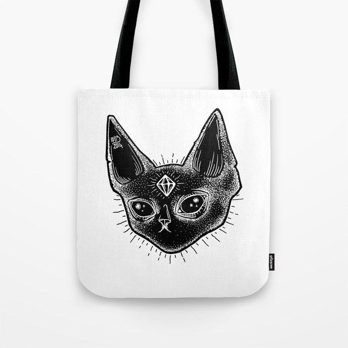 Black Kitten Tote Bag