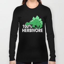 Funny Vegan 100% Herbivore Shirt Long Sleeve T-shirt