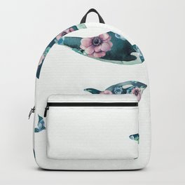 Rose Garden Whales Backpack