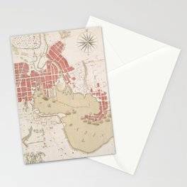 Vintage Map of Baltimore MD (1793) Stationery Cards