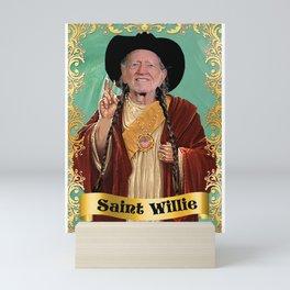 Saint Willie Nelson Mini Art Print