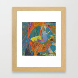 Pixels On The Beach - Mark Gould Framed Art Print