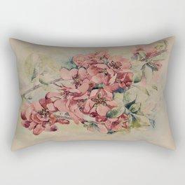 Flowering Japanese quince 2 Rectangular Pillow