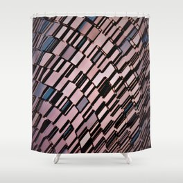Abstract Architectural Blush Shower Curtain