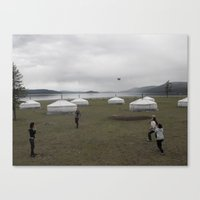 volleyball Canvas Prints featuring Mongolian Volleyball by Robert Pearson