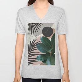 Ficus Elastica Fan Palm Finesse #1 #tropical #decor #art #society6 Unisex V-Neck